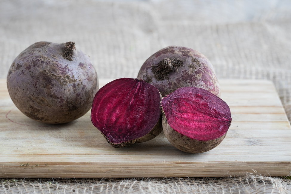 beets on a cutting board