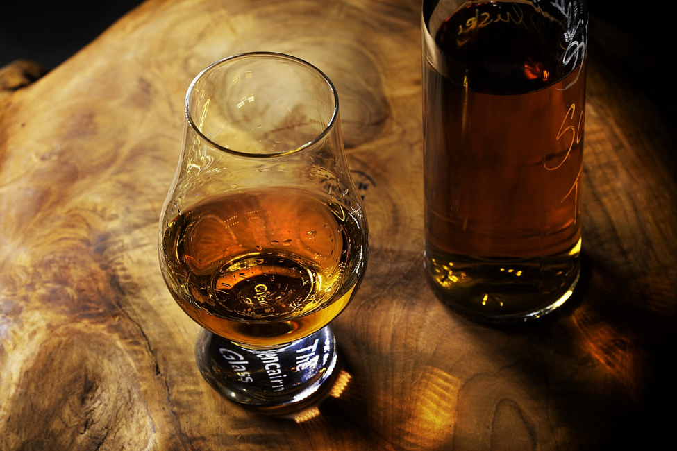 rum in a tasting glass
